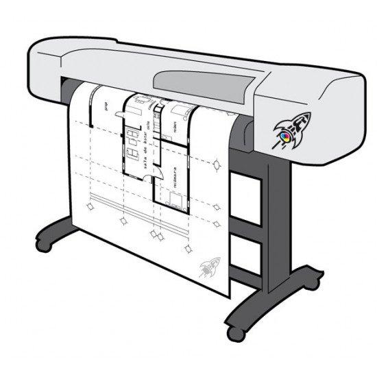 Печать чертежей от А4  до А0+ (не форматные чертежи)
