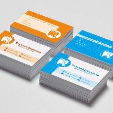 Изготовление визиток, дизайн и макет, печать визиток
